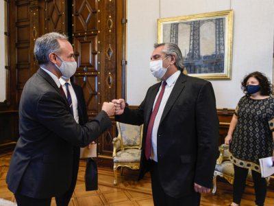 El Presidente recibió a funcionarios de México para analizar la respuesta de ambos países a la pandemia de coronavirus 1