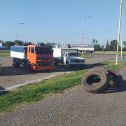 Protesta de camioneros en Ruta 188 y 32 1