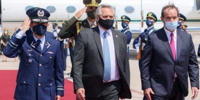 El presidente Alberto Fernández ya está en Santiago de Chile 5