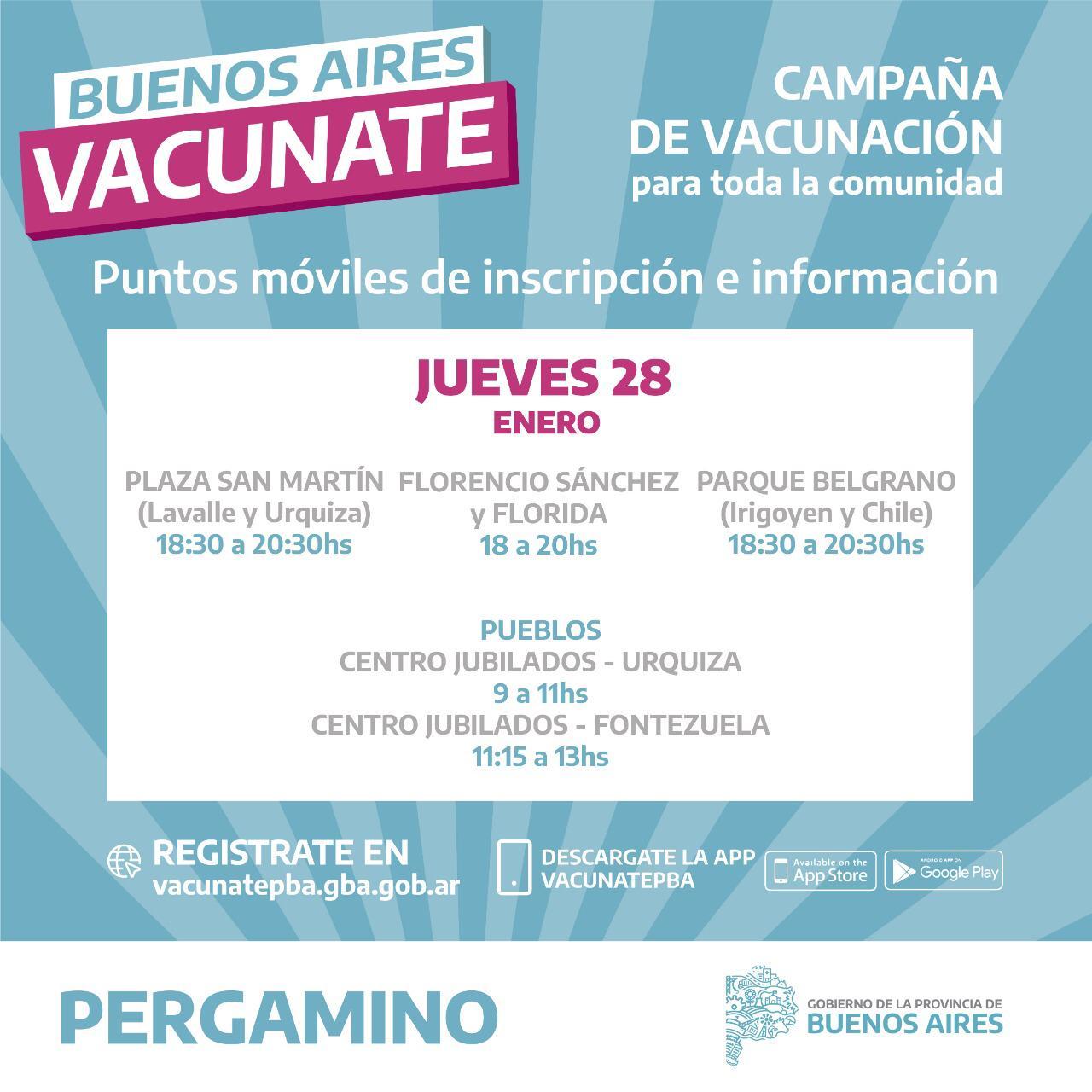 Lugares de inscripción para el Plan Vacunate 2