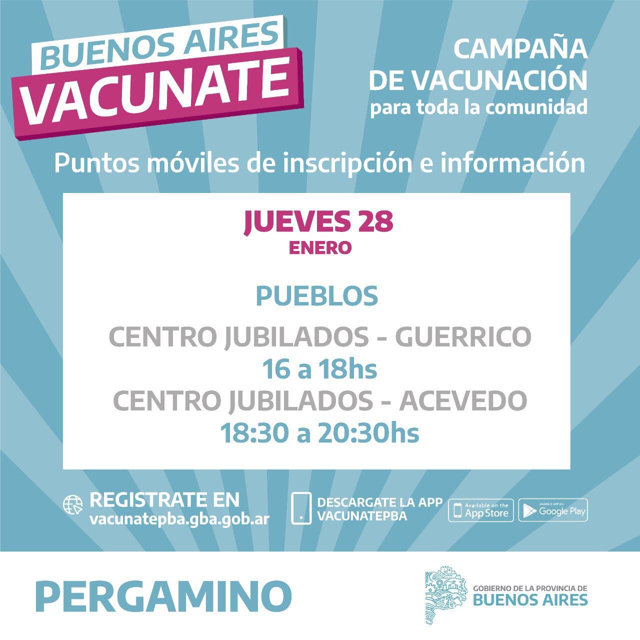 Lugares de inscripción para el Plan Vacunate 3