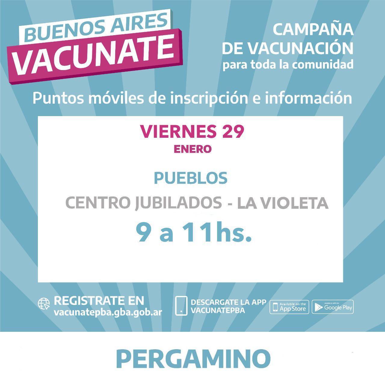 Continúan las inscripciones para vacunarse contra el COVID-19 en localidades del Partido 1