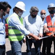 El ministro de Desarrollo Agrario recorrió las obras del Río Salado 2