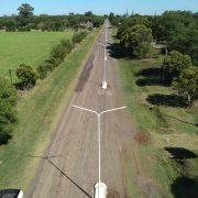 Construcción de cordón cuneta, luminaria y canteros en Pinzón 4