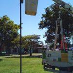 Colocación de luminarias en diferentes sectores de la ciudad 4