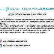 El Consejo Escolar atenderá con turno previo para actualización de trayectoria laboral y títulos de auxiliares 13
