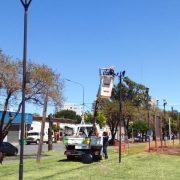 Continúa la colocación de luces LED en la ciudad 3