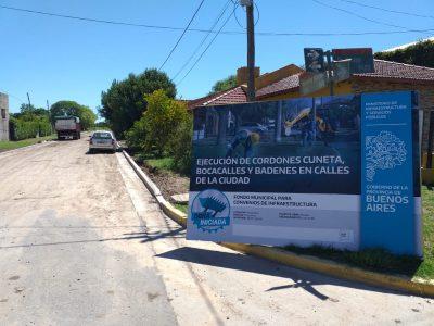 Se realizan más de 20 cuadras de cordón cuneta en barrios de la ciudad 1