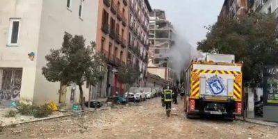Fuerte explosión de un edificio en Madrid 25