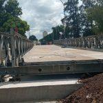 El ejército terminó el montaje del puente provisorio Colón-Illia 2