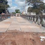 El ejército terminó el montaje del puente provisorio Colón-Illia 1