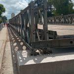 El ejército terminó el montaje del puente provisorio Colón-Illia 3