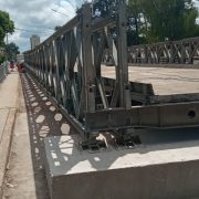 ¿Por qué el Jueves estuvo cortado el puente provisorio Colon-Illia? 2