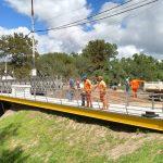 El ejército terminó el montaje del puente provisorio Colón-Illia 4