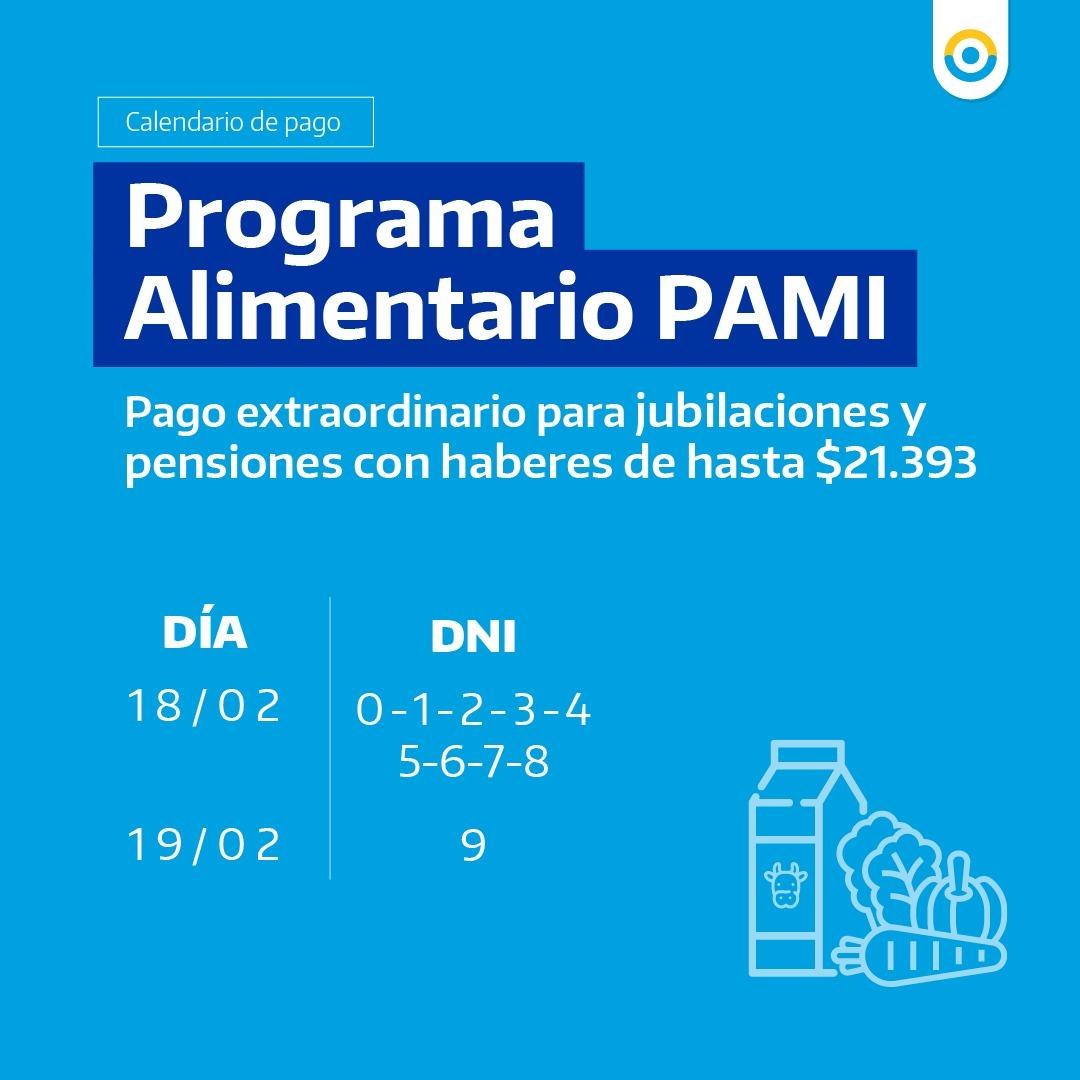 PAMI pagará una nueva cuota de asistencia alimentaria 3