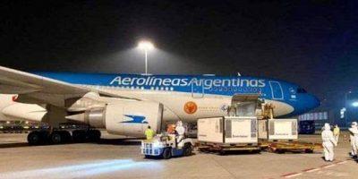 Arribó al país el vuelo de Aerolíneas Argentinas 8