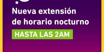 Provincia extendió el horario nocturno hasta las 2AM 9