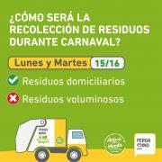 Recolección de residuos durante el feriado de Carnaval 24