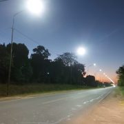 Finalizaron la primera etapa de alumbrado LED en Av Jauregui 11