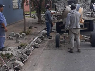 Desde el Municipio realizaron reparación de cordones cuneta 1