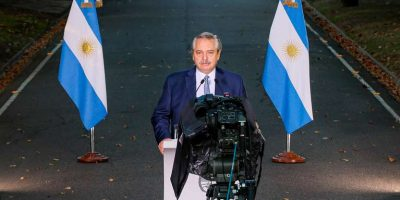 El presidente Alberto Fernández anunció restricciones 28