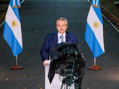 El presidente Alberto Fernández anunció restricciones 2