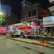 Incendio en local comercial de San Nicolás y Avenida De Mayo 3