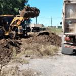 Guerrico: Trabajos en la playa de camiones municipal 2