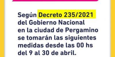 La Municipalidad de Pergamino se acogerá a lo dispuesto por el Estado Nacional hasta a la espera de las determinaciones de Provincia 6