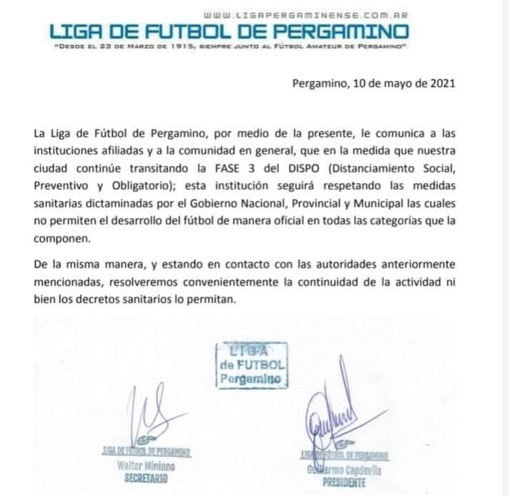 La Liga de Fútbol confirmó que la actividad continúa suspendida 1