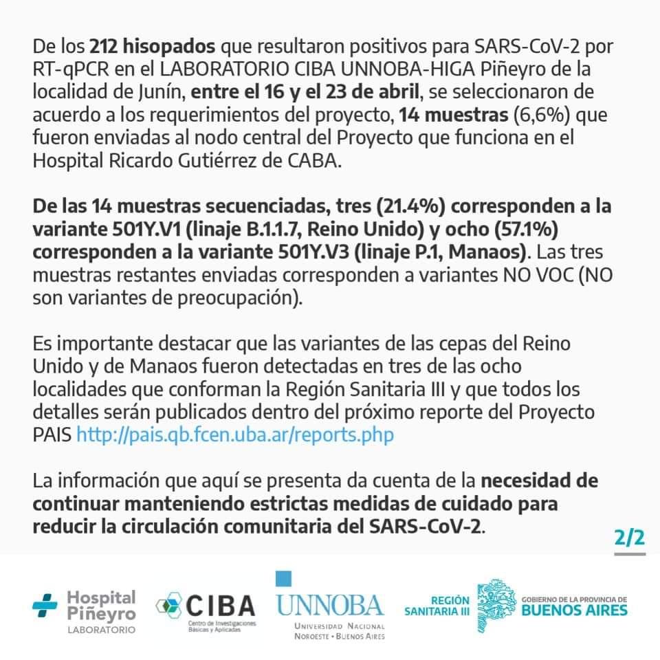 Preocupante situación epidemiológica en Junín 2