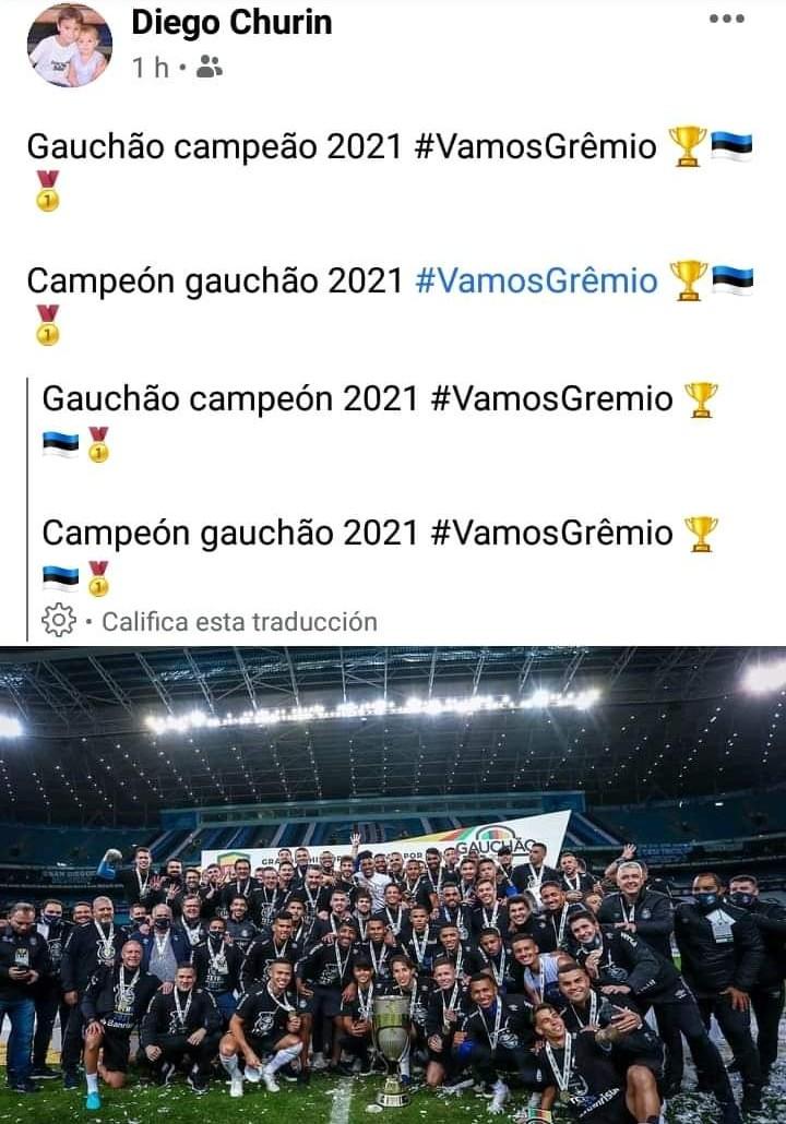 Diego Churin campeón con Gremio 1