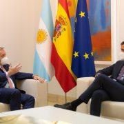 Alberto Fernández se reunió con el Rey Felipe VI de España y con el presidente Pedro Sánchez 2
