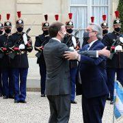 El Presidente se reunió con su par de Francia y termina su gira en Roma 12