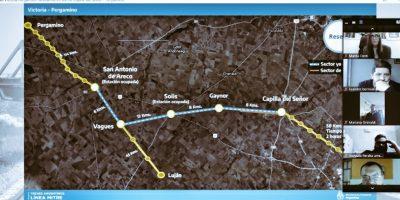 El diputado Lisandro Bormioli participó de una reunión porla vuelta del ramal de tren Pergamino - Victoria 10
