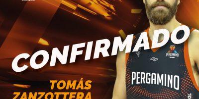 Tomas Zanzottera es nuevo jugador de Pergamino Básquet 9