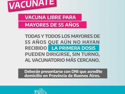 """Axel Kicillof: """"A partir de mañana en la provincia, cualquiera que tenga mas de 55 años puede acceder a la vacuna libre"""""""" 5"""