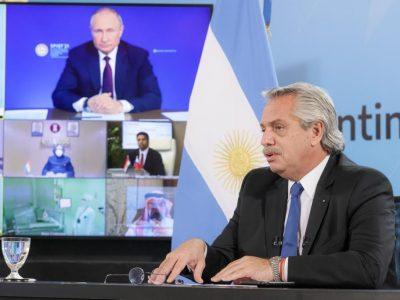 Alberto Fernández y Vladímir Putin anunciaron el inicio de la producción de la vacuna Sputnik V en Argentina 10