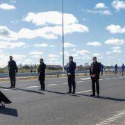 Detalle de la palabra de los funcionarios en la inauguración de la variante de circunvalación de la autopista 3