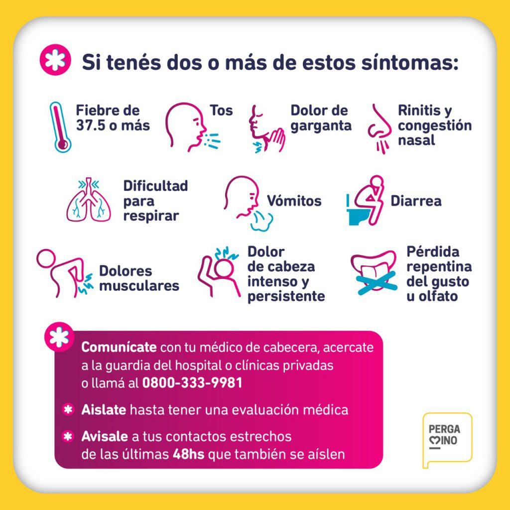 Secretaría de Salud: Si tenes dos o más síntomas compatibles con COVID, consultá a tu médico de cabecera 1