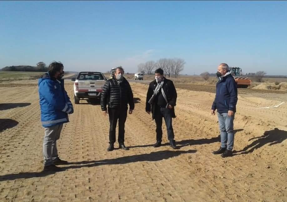 El diputado Lisandro Bormioli recorrió obras de la autopista 2