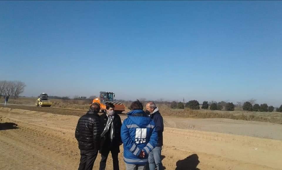 El diputado Lisandro Bormioli recorrió obras de la autopista 1