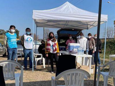 Se montó una Posta de vacunación contra el coronavirus en Barrio José Hernández 6
