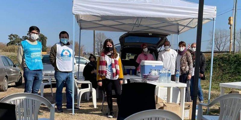 Se montó una Posta de vacunación contra el coronavirus en Barrio José Hernández 8