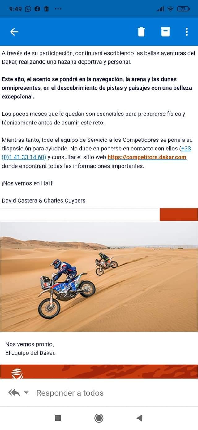 CONFIRMADO: Joaquín Debeljuh Taruselli al Dakar 2022 2