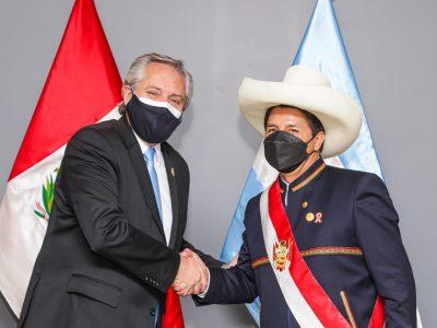 Alberto Fernández mantuvo un encuentro con el mandatario peruano Pedro Castillo 1