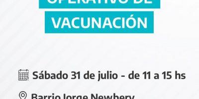 Operativo de Vacunación en Barrio Jorge Newbery 11