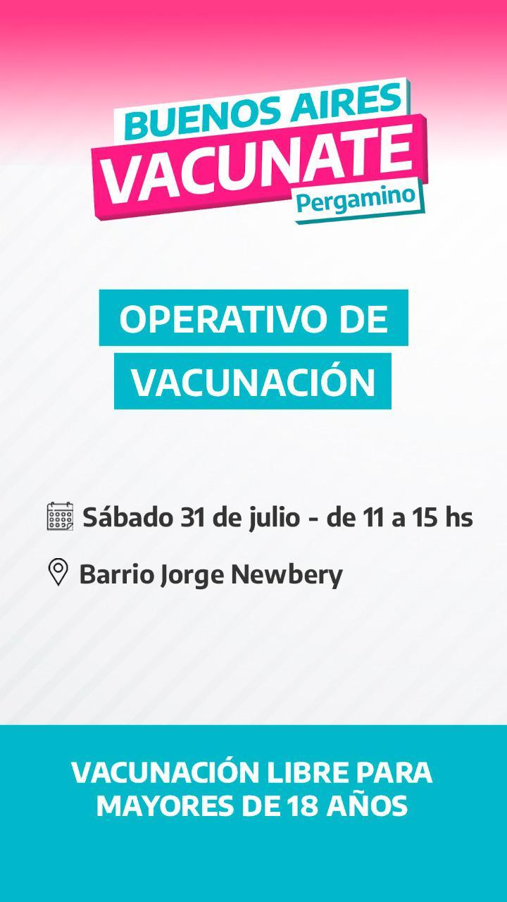 Operativo de Vacunación en Barrio Jorge Newbery 1