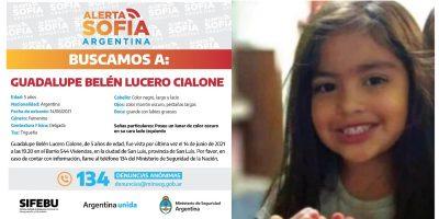 SAN LUIS: Siguen los rastrillajes a 21 días de la desaparición de Guadalupe Lucero 9