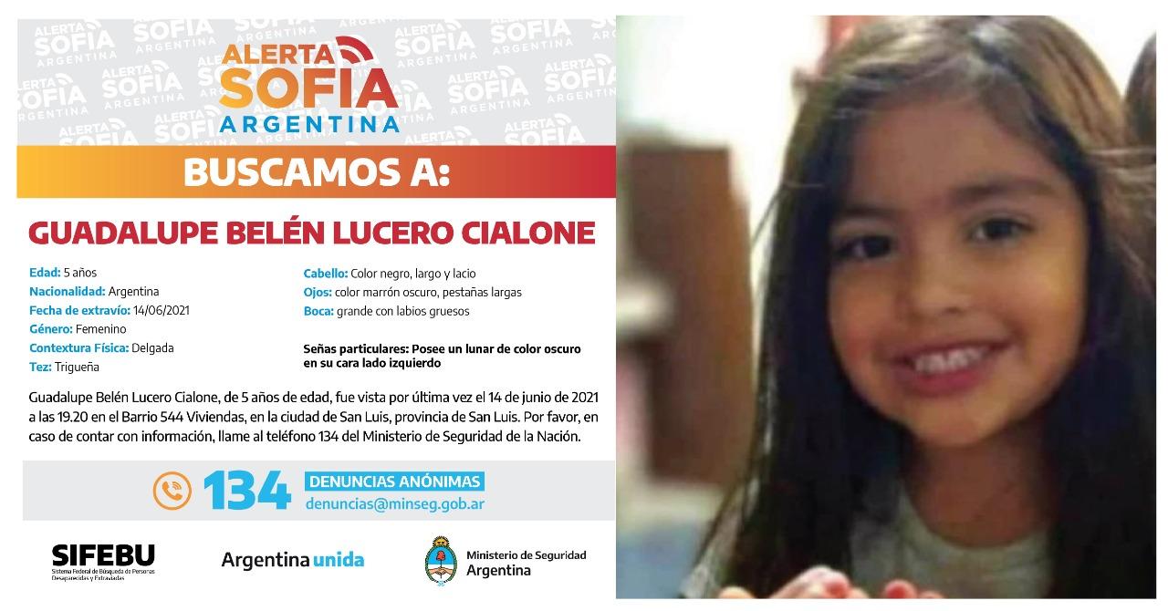 SAN LUIS: Siguen los rastrillajes a 21 días de la desaparición de Guadalupe Lucero 1